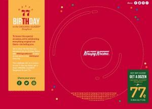 Krispy Kreme's 77th Birthday- Celebrate the Original