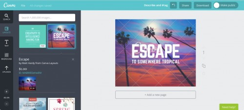 canva layouts cost