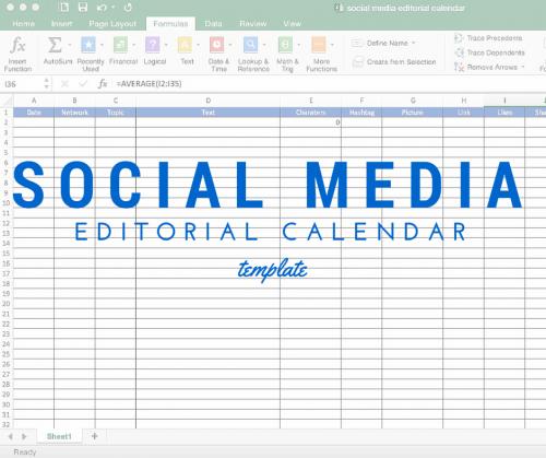Social media-editorial-calendar-template