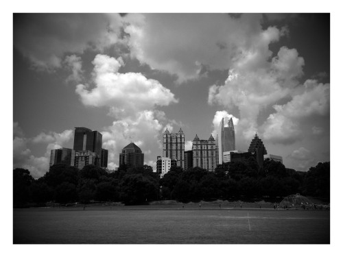 Google Photo creating of Atlanta Skyline taken from Piedmont Park