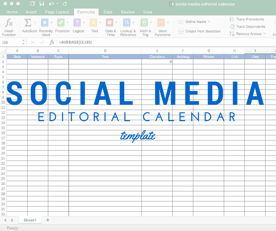 Marketing Elements By Timothy Goleman Make Your Own Social Media Editorial Calendar